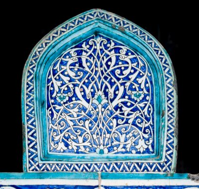Wall mural Tiled background with oriental ornaments