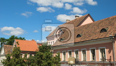 tiled roof of  ancient Minsk
