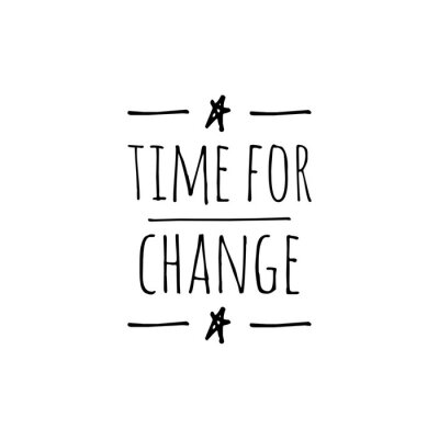 Wall mural ''Time for change'' Lettering