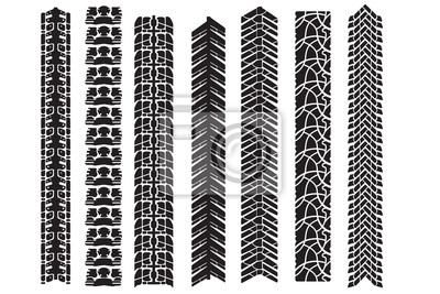 tire track vector elements for design