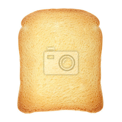 Wall mural Toast loaf on white, clipping path included