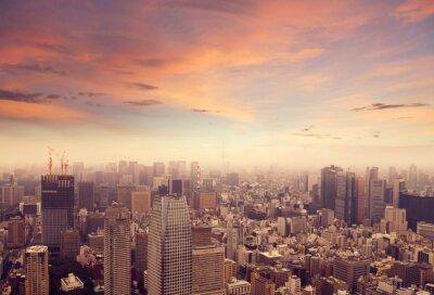 Wall mural Tokyo skyline