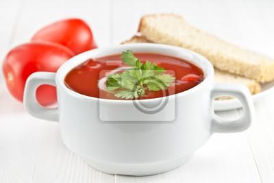 Wall mural tomato gazpacho soup