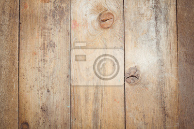 Wall mural Toned photo. Color tone tuned. Rustic weathered barn wood background with knots and nail holes