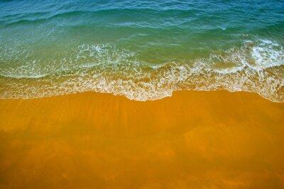 Top view of beautiful sand beach
