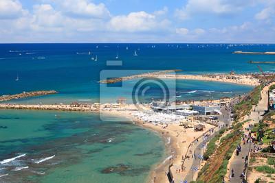 Top view of Tel-Aviv beach