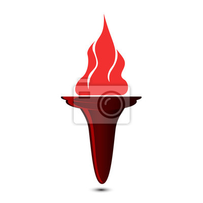 Wall mural torch icon