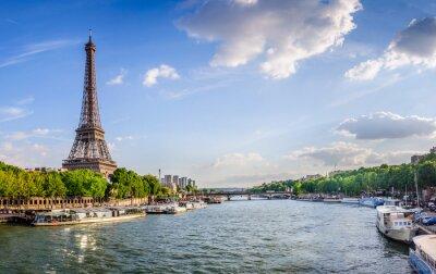 Wall mural Tour Eiffel et pont d'Iéna