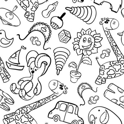 Wall mural Toys
