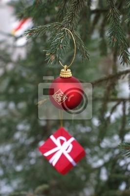toys on a fir-tree