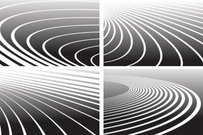 Wall mural Track lines. Abstract backgrounds set.