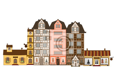 Traditional houses  in Europe