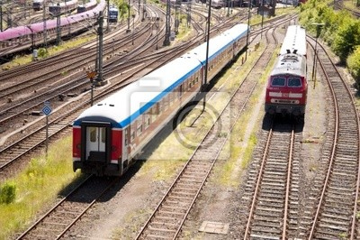 Wall mural train