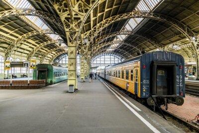 Wall mural Train platforms at the Vitebsk railway station.Saint-Petersburg.