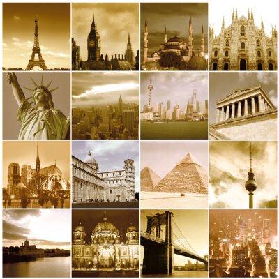 Wall mural Travel around the world