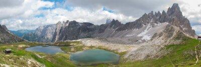 Wall mural Trekking in Tre Cime National Park, Dolomites