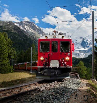 Wall mural trenino rosso del Bernna
