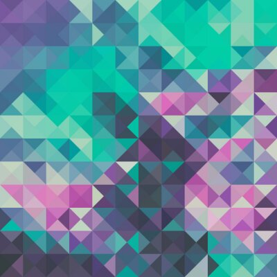 Wall mural Triangle background, green and violet