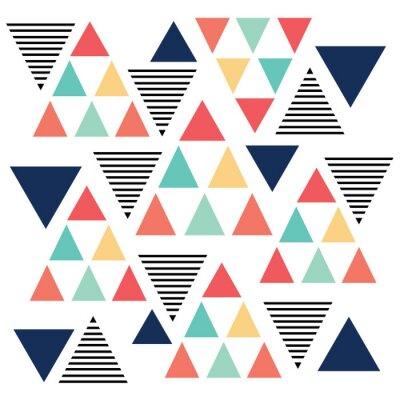 Wall mural Triangle pattern color variation