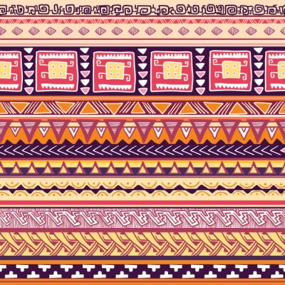 Wall mural tribal pattern