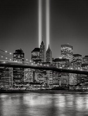 Wall mural Tribute in Light, September 11 Commemoration, New York City