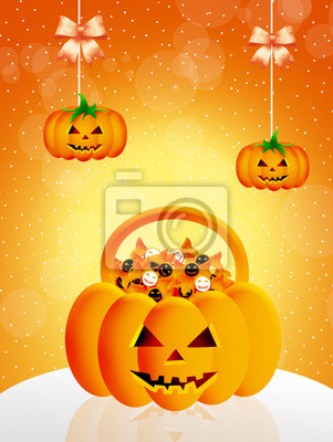 Trick or treat of Halloween