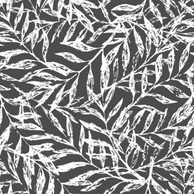 Wall mural Tropical seamless floral pattern