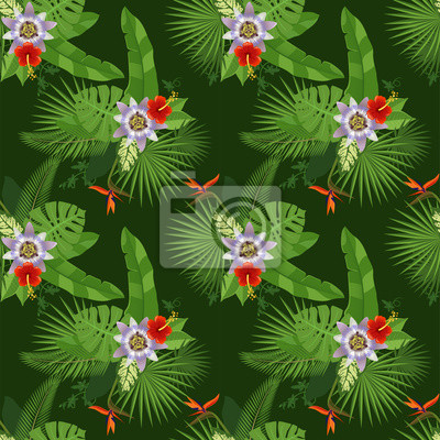 Tropical seamless pattern
