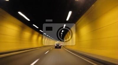 Wall mural tunnel