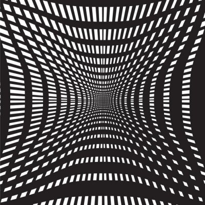 Wall mural tunnel black and white abstract background