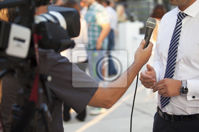 tv interview with a businessman
