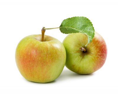 Two red-yellow apple