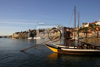 typical boat at oporto city on the north of portugal
