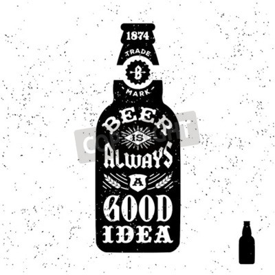Wall mural typography monochrome hipster vintage label , badge