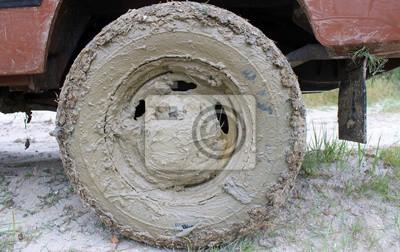 ubłocone koło
