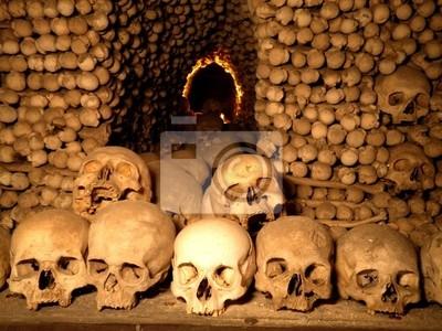 Wall mural Underground Skulls