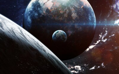 Wall mural Universe scene with planets