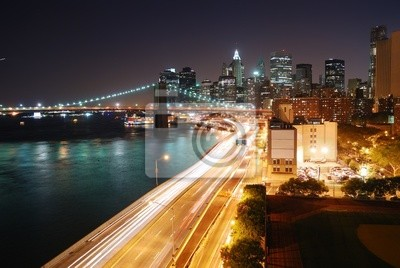 Urban New York City night view