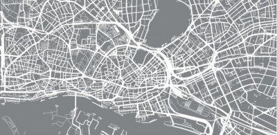 Wall mural Urban vector city map of Hamburg, Germany