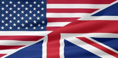 Wall mural US - UK - Flagge