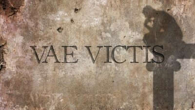 Wall mural Vae Victis. Latin Phrase for Woe to the Vanquished
