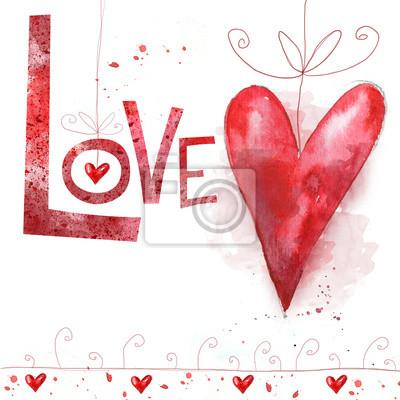 Valentines day postcard.Love background