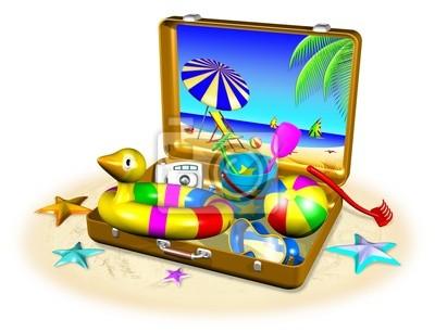 Valigia al Mare-Suitcase at the Beach