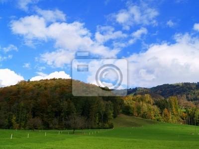 vallée alpine en automne
