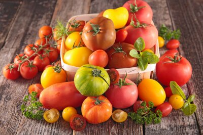Wall mural variety of tomatoes
