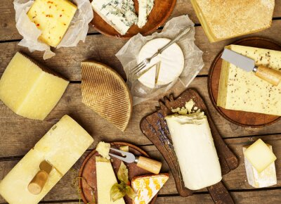 Wall mural Various types of cheese