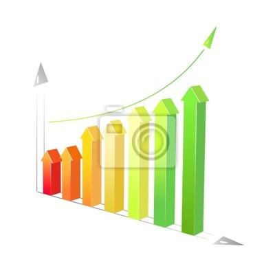 vector abstract bar graphs