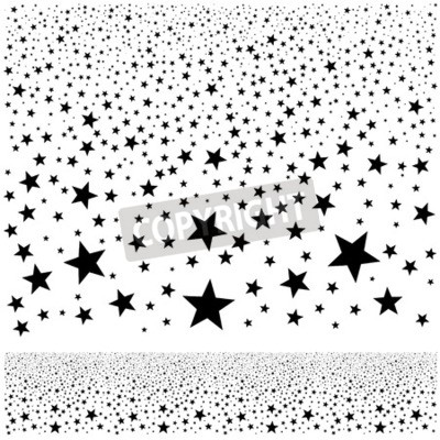 Wall mural vector abstract falling stars background