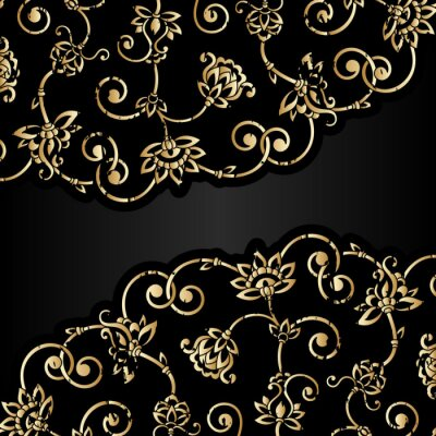 Wall mural Vector aged ornament with scratch and attrition.