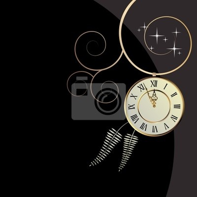 vector background with a clock